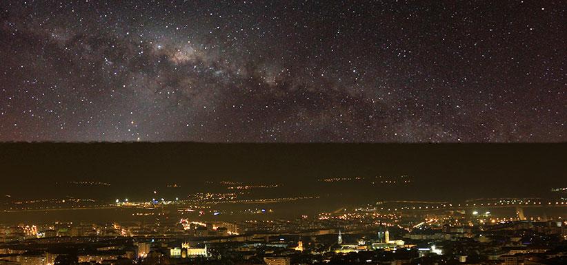 Iluminación nocturna de una gran ciudad: Alumbrado exterior