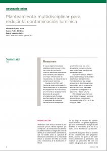 planteamiento multidisciplinar-para-reducir contaminacion luminica
