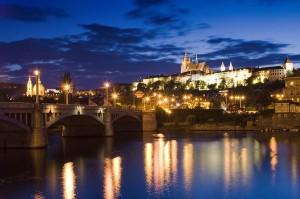 Fotografía nocturna de Praga