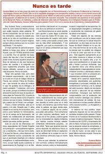 Boletín informativo. Colegio Oficial de Físicos. Septiembre 2013..