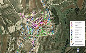 Mapa inventario instalaciones en GIS