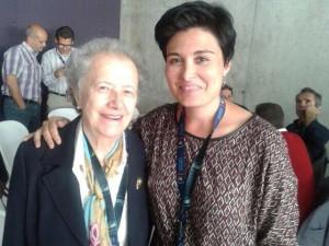 Junto con María Josefa Izuel, presidenta del Comité Español para la celebración del Año Internacional de la Luz 2015