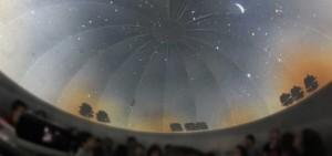 Contaminación lumínica dentro de planetario
