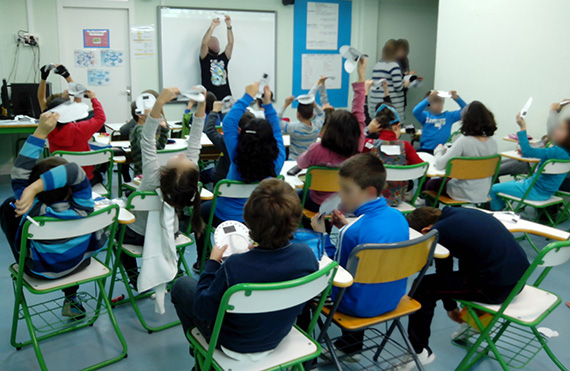 Uno de los momentos del taller en el aula