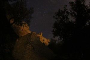 Cielo estrellado nocturno sin contaminación lumínica