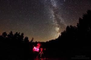 Midiendo calidad del cielo nocturno en Valle de Roncal